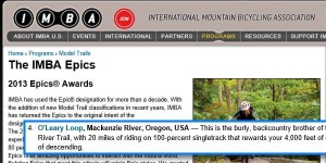 2013 Epic Award Winner - IMBA